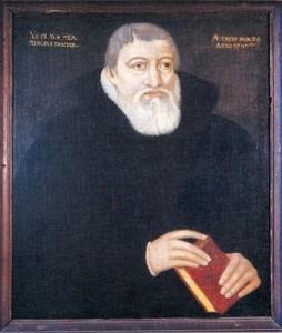 Niels Hemmingsen, maleri tilskrevet Tobias Gemperlin, antagelig 1595. Det nationalhistoriske museum på Frederiksborg.