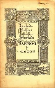 Den første årbog fra 1913
